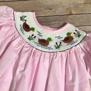  Babeeni Ducks Smocked Pink Dress NEW NWT 3 4T 5